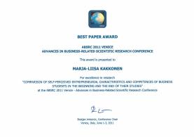 Best Paper Venice 2011